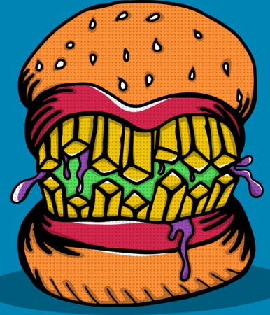 monster burger apparel